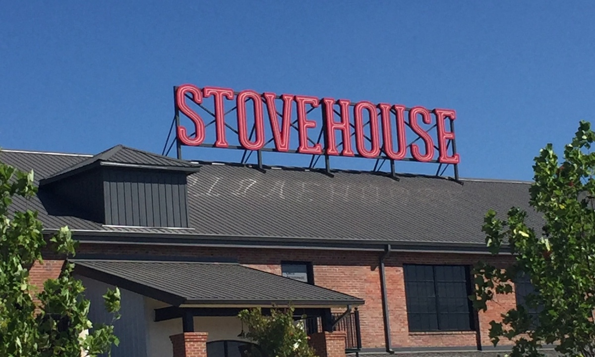 The Stovehouse sign.